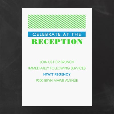 Vivid and Vibrant - Reception Card