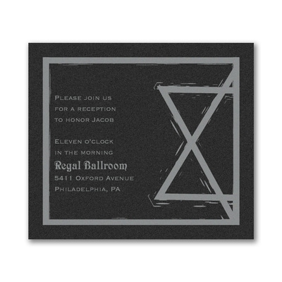 Meaningful Star - Reception Card - Black Shimmer