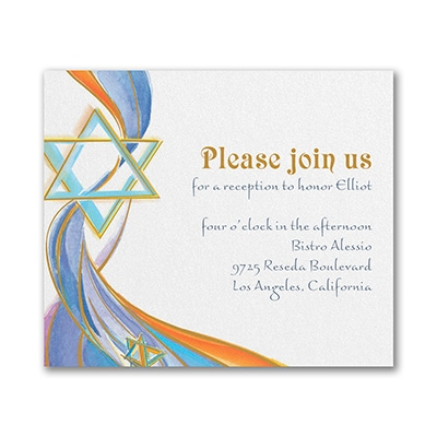 Flowing Light - Reception Card