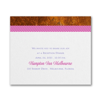 Blooming Tree - Reception Card