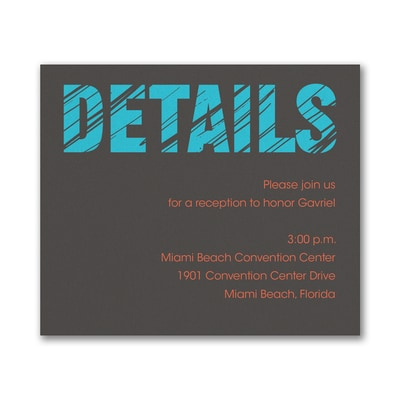 Mitzvah Lines - Reception Card
