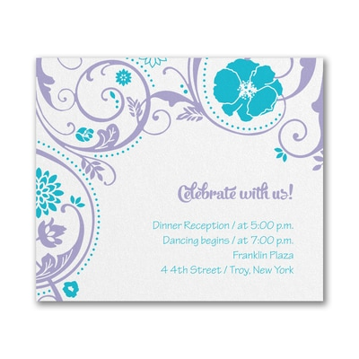 Swirls and Petals - Reception Card