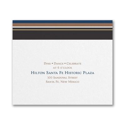 Handsome Stripes - Reception Card