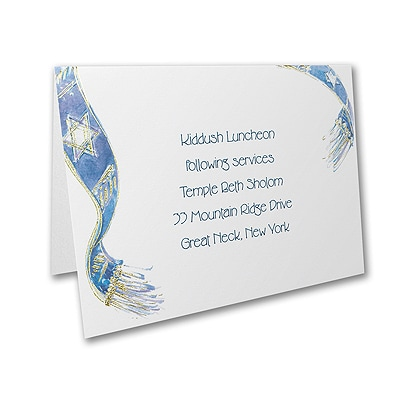 Embellished Tallit - Reception Card