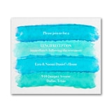 Bright Watercolor - Reception Card - Aqua