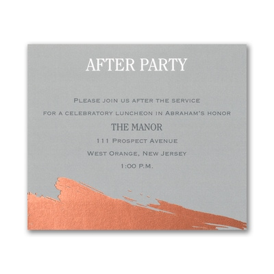 Painted Foil - Reception Card