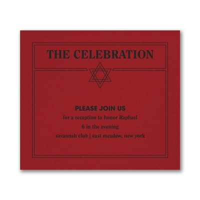 Modern Mitzvah - Reception Card - Claret