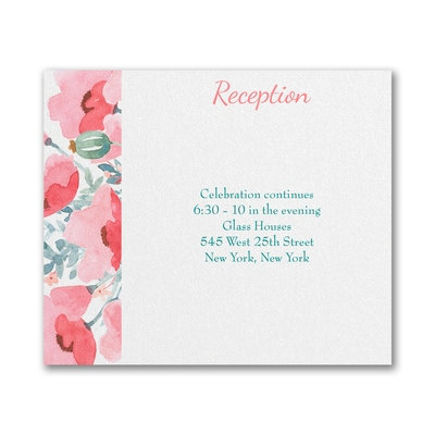 Peaceful Star - Reception Card - Coral