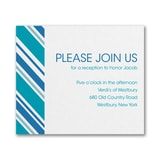 Regal Stripes - Reception Card