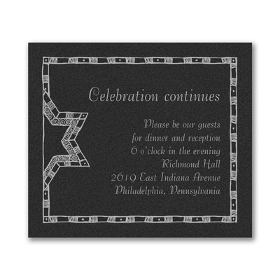 Starry Border - Reception Card - Black Shimmer