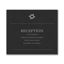 Hip Mitzvah - Reception Card - Black Shimmer