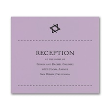 Hip Mitzvah - Reception Card - Lavender