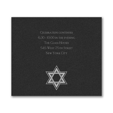 Dazzling Star - Reception Card - Black Shimmer
