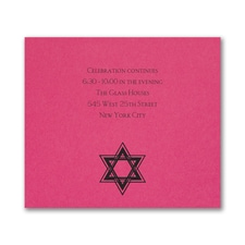 Dazzling Star - Reception Card - Fuchsia