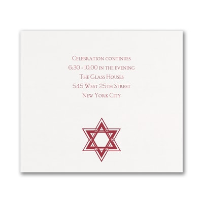 Dazzling Star - Reception Card - White