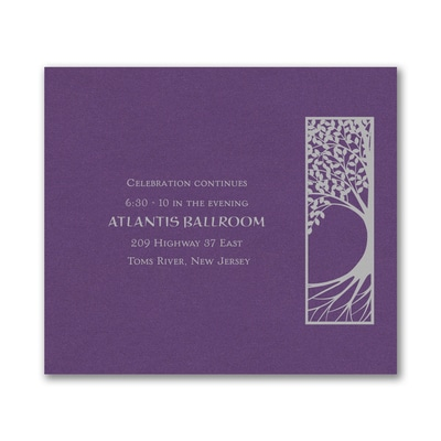 Tree of Life - Reception Card - Purple Shimmer