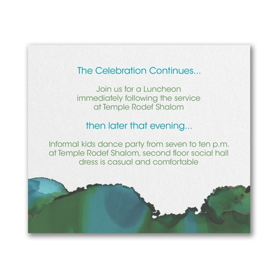 Be Bold - Celestial - Reception Card - Emerald