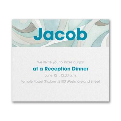 Modern Mosaic - Reception Card - Lagoon