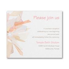 Watercolor Celebration - Reception Card - Coral