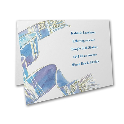Blessed Tallit - Reception Card
