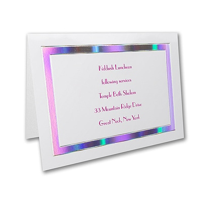 Prisms- Reception Card