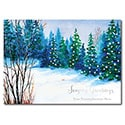 Snowy Blue Pines Card