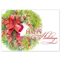 Wreath with Red Bow Card