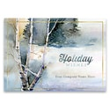 Birches in Snow Card