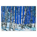 Moonlit Birch Trees Card