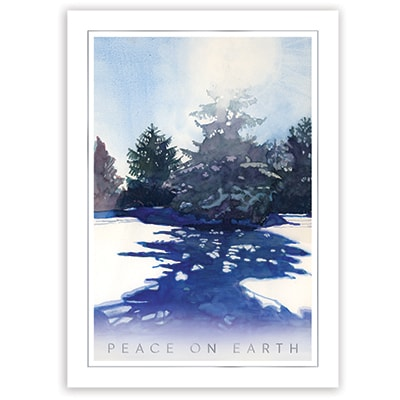 Watercolor Winter Card