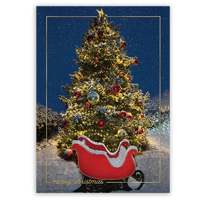 A Sleigh Awaits Card