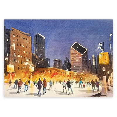 Skating in Millennium Park Card