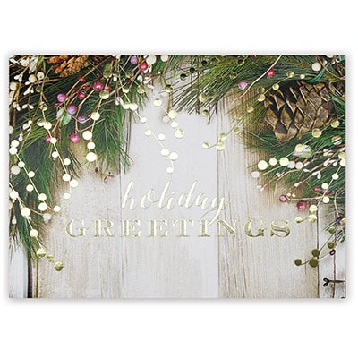 Rustic Holiday Greetings Card