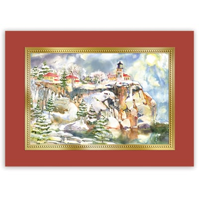 Split Rock in Winter Card