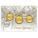 Golden Ornaments Card