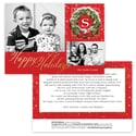 Festive Wreath Photo Card