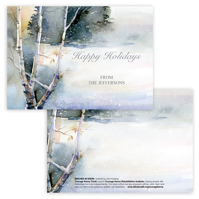 Birches in Snow Panel Card