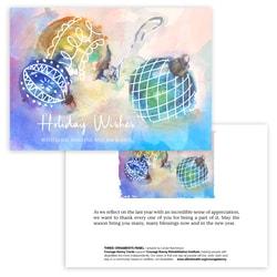 Three Ornaments Panel Card