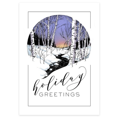 Winter Creek Card
