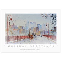 Holidaytime at Stone Arch Bridge Card