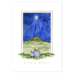 Nativity Shepherd Card