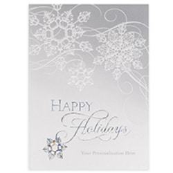 Swirling Snowflakes Card