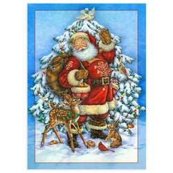 Santa and Friends Card