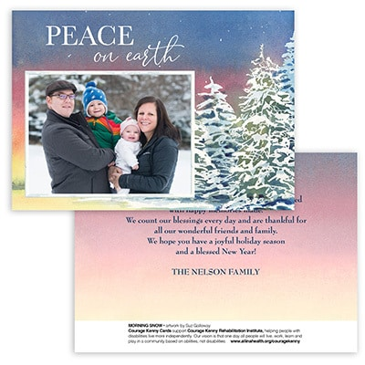 Morning Snow Card<br>0 or 1 Photo Options