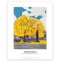Under Fire Maple Art Print