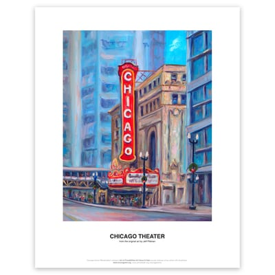 Chicago Theaater Art Print