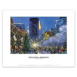 Nicollet Mall, Minneapolis Art Print