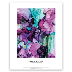 Waves of Violet Art Print