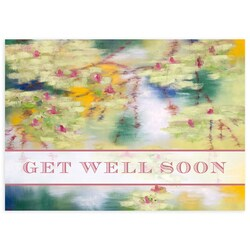 Water Lily Blossoms Get Well Card