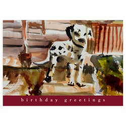 Dalmation Dog Birthday Card